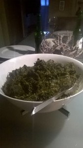 Big bowl of grunkohl